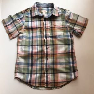 Cat and Jack Plaid Polo Size 8/10